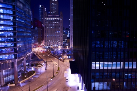 Chicago Towers at Night Chi