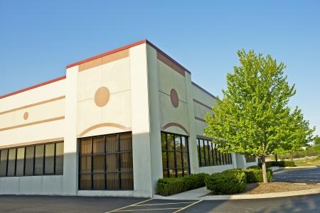 Foto de Commercial Building - Retail Building Corner Office Space. Commercial Architecture.  - Imagen libre de derechos