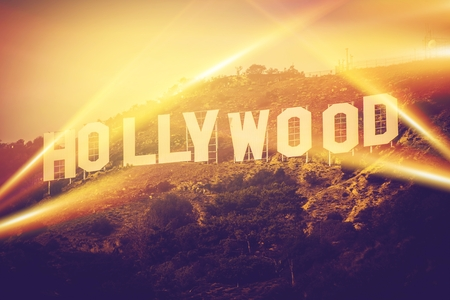 Photo for Hollywood California USA. World Famous Hollywood Sign Concept. - Royalty Free Image