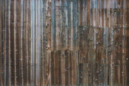Foto de Aged Barn Wooden Wall Background. Aged Planks Wall Photo Backdrop. - Imagen libre de derechos