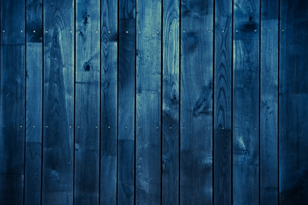 Photo pour Dark Blue Wood Background. Blue Painted Wood Background. - image libre de droit
