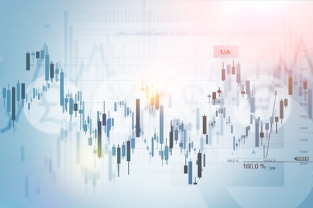 Photo pour Forex Trading Index Concept Background Illustration. Financial Background. - image libre de droit