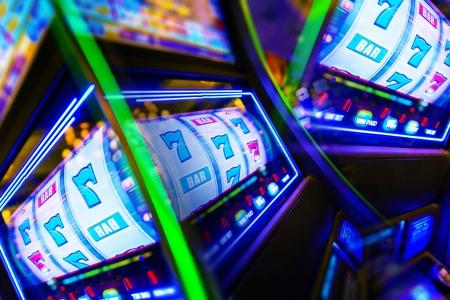 Photo for Slot Machine Casino Mania. Vegas Play and Fun Conceptual Photo. - Royalty Free Image