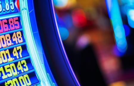 Foto de Video Money Games Concept Photo. Part of Video Slot Machine in the Las Vegas Casino. - Imagen libre de derechos