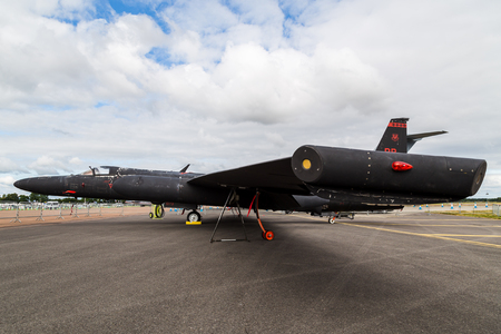 Foto de U-2 from the USAF seen at the 2017 Royal International Air Tattoo at Royal Air Force Fairford in Gloucestershire - the largest military airshow in the world. - Imagen libre de derechos