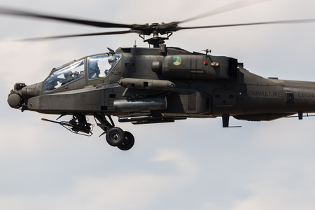 Foto de Royal Netherlands Air Force AH-64D Apache pictured at the 2018 Royal International Air Tattoo at RAF Fairford in Gloucestershire. - Imagen libre de derechos
