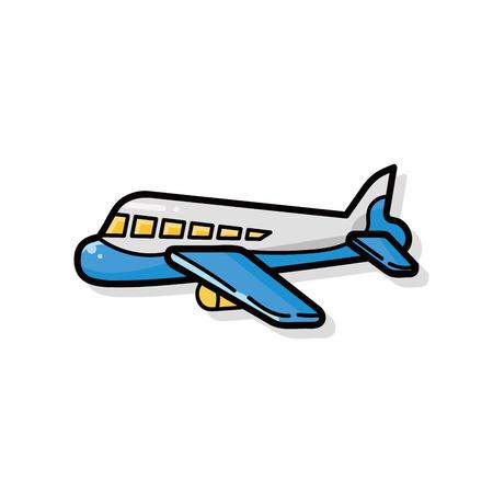 Ilustración de airplane doodle - Imagen libre de derechos