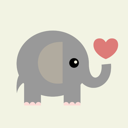 vector valentine card(elephant)