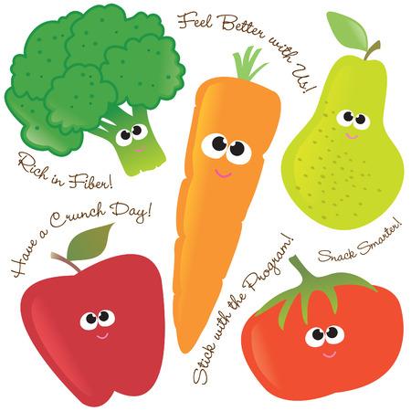 Mixed fruits & vegetables set 2