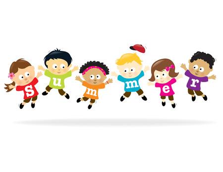 Summer Fun kids - multi-ethnic