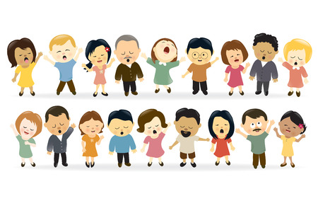 Illustration for Group of people singing - Royalty Free Image