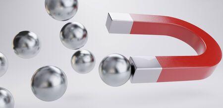 Foto de magnet chrome balls magnetic design 3d-illustration - Imagen libre de derechos