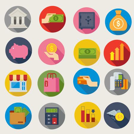 Illustration pour financial icons - image libre de droit