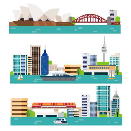 Illustration for australia landscape - Royalty Free Image