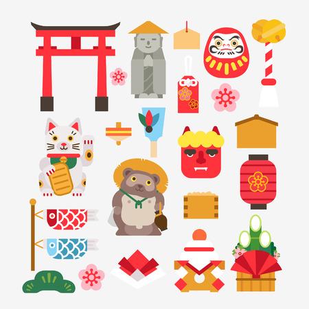 Ilustración de Collection Of Japanese new year - Imagen libre de derechos