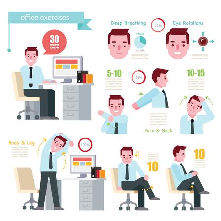 Ilustración de Office Exercises - Imagen libre de derechos