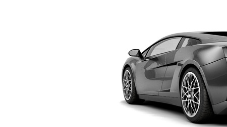 Photo pour New CG 3d render of generic luxury detail sports car illustration isolated on a white background. With stylized noise effects - image libre de droit