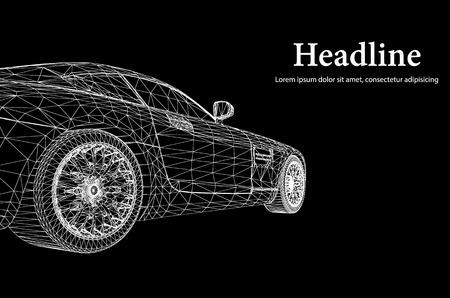 Ilustración de Abstract Creative concept background of 3d car model - Imagen libre de derechos