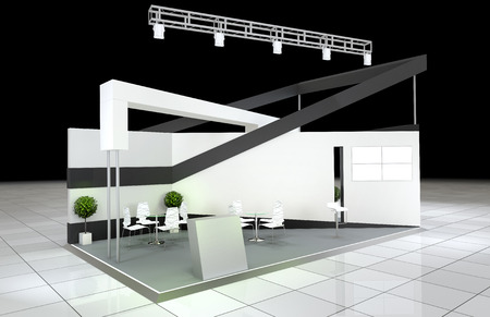 Foto de modern design abstract exhibition stand - Imagen libre de derechos