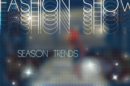 Photo pour fashion show abstract vector background with blurred podium - image libre de droit