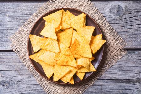 Photo pour Snack for party , chips , nachos  - image libre de droit