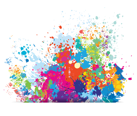 Ilustración de Color background of paint splashes - Imagen libre de derechos