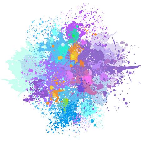 Ilustración de Color background of paint splashes - Imagen libre de derechos