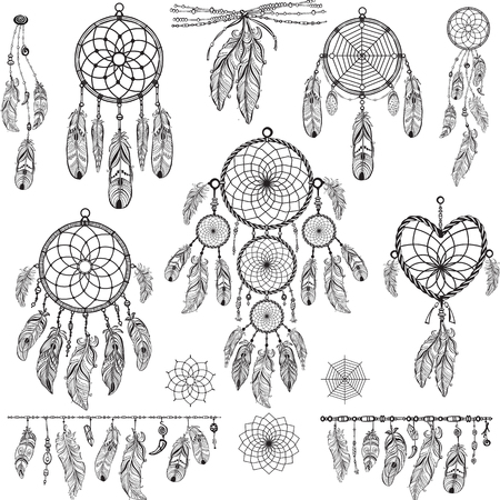 Illustration for Set of Dream catchers - Royalty Free Image