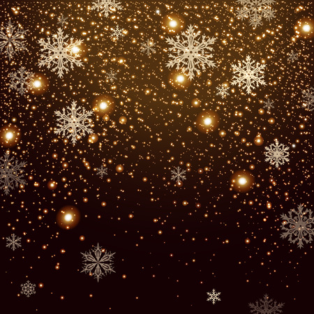 Illustration pour Winter falling snow background. Design element. Can be used for New Year or Christmas greeting card - image libre de droit