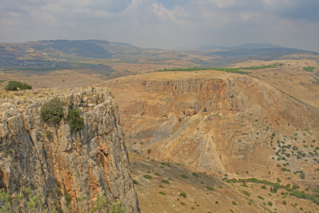 Photo for Desert View from Mount Arbel in Israel - Royalty Free Image