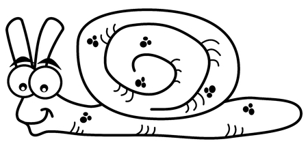 Illustration pour smiling snail for coloring - image libre de droit