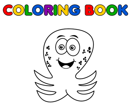 Illustration pour octopus merry standing for coloring - image libre de droit