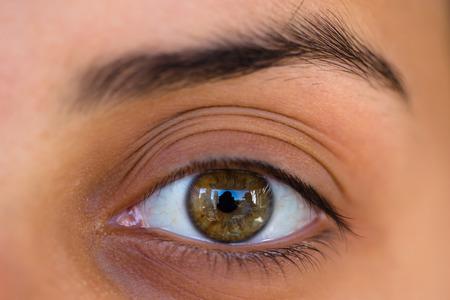 Foto de Female eye photographed with macro lens - Imagen libre de derechos