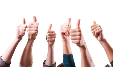 Photo for Thumbs Up on White Background - Royalty Free Image