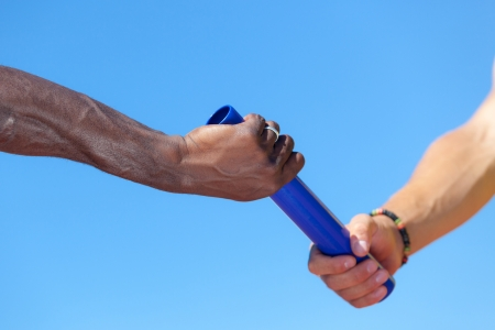Photo for Passing the Relay Baton - Royalty Free Image