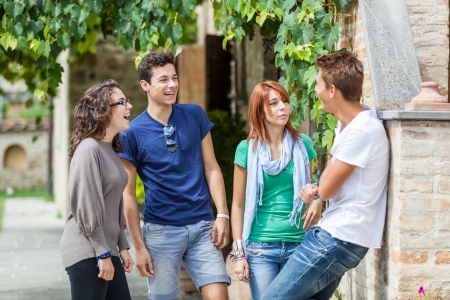 Photo for Group of Teenagers Outside - Royalty Free Image