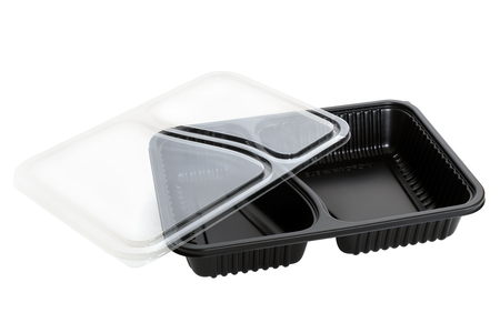 Photo for Plastic food container on white background. - Royalty Free Image