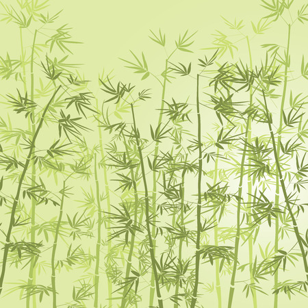 Illustration pour Bamboo forest background. - image libre de droit