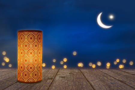Foto de ornamant lamp in moonshine - Imagen libre de derechos