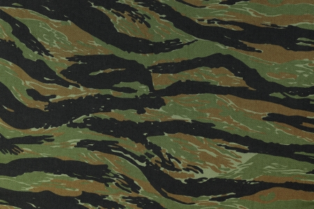 Photo for US vietnam green tigerstripe camouflage fabric texture background - Royalty Free Image