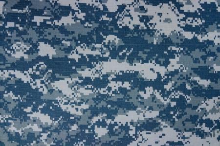 Foto de US navy digital camouflage fabric texture background - Imagen libre de derechos