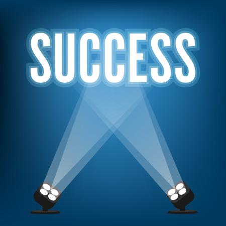 Illustration pour Success signs with spotlight illuminated - image libre de droit