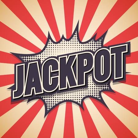 Illustration pour Jackpot Graffiti. Comic Speech Bubble.  - image libre de droit