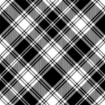 Illustration pour Seamless tartan black and white pattern - image libre de droit