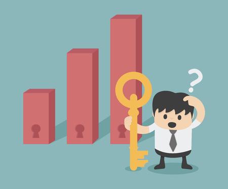 Illustration pour decision making invest - image libre de droit