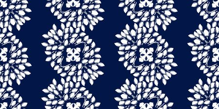 White monohrome floral ornate pattern. Seamless design for fabric, textile, book, interior, wallpaper. Vector