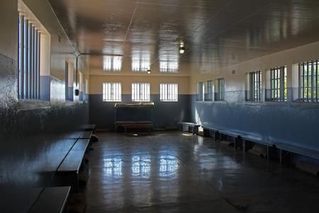 Photo pour Nelson Mandel's Prison Wing, Robben Island, Cape Town, South Africa - image libre de droit