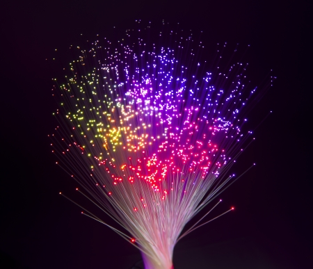 Photo pour Abstract Internet technology fiber optic background - image libre de droit