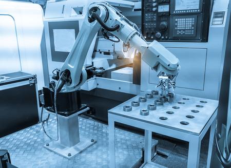 Foto de Controler of robotic hand - Imagen libre de derechos
