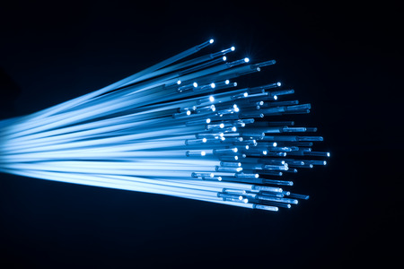 Foto de fiber optic for global communication - Imagen libre de derechos
